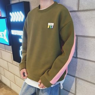 Color-Block Loose-Fit Sweatshirt 1064431361