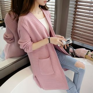 Ribbed Long Cardigan 1062659343