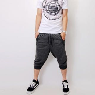Picture of SLOWTOWN Cropped Drop-Crotch Sweatpants 1022963489 (SLOWTOWN, Mens Pants, China)