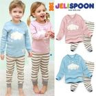 Kids Pajama Set: Printed Top + Pants 1596