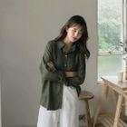 Linen Blend Drop-Shoulder Shirt 1596