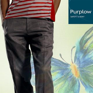 Buy Purplow Button Waist Regular Fit Pants in Sepia 1004802244