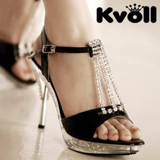Buy Kvoll Diamante Patent Sandals 1022512380