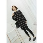 Striped Knit Pencil Skirt 1596