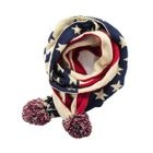 Kids Pompom Star Print Knit Scarf 1596