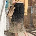 Gradient Accordion Pleat Skirt 1596