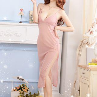 Slit Sleep Dress 1048928716