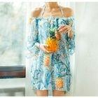 Set: Pineapple Print Bikini + Cover-Up 1596