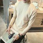 Panel Mock-neck Long-Sleeve T-shirt 1596
