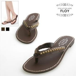 Buy FLOY SHOES Studded Flip-Flops 1023054496