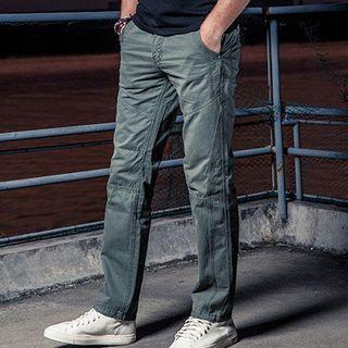 Plain Straight Cut Pants