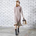 Velvet-Hem Knit Dress 1596