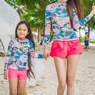 Family Matching Set: Printed Rashguard + Swim Bottom 1050394226