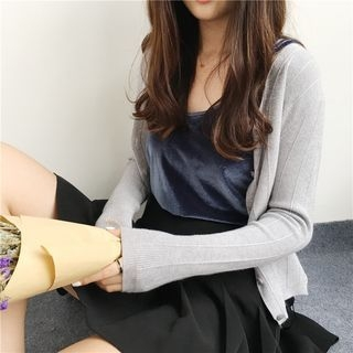 V-Neck Ribbed Cardigan 1061388625
