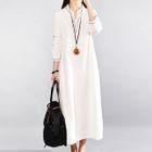 Long-Sleeve Maxi A-line Dress 1596