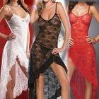Set: Lace Nightdress + Thongs 1596