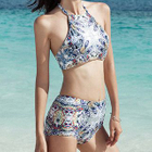 Set: Patterned Tankini + Cover-up 1596