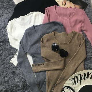 Ribbed Long-Sleeve T-Shirt 1053362520