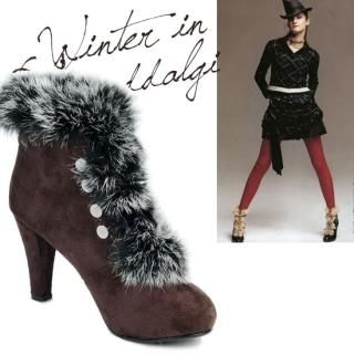 Buy NamuDDalgi Faux Fur Trim Ankle Boots 1021919957