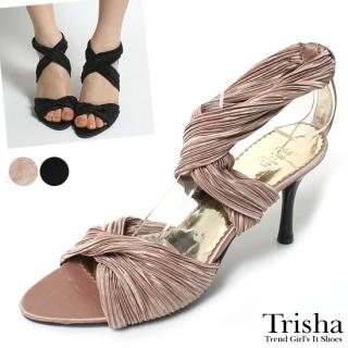 Buy Trisha Satin Cross Strap Stilettos 1022550813