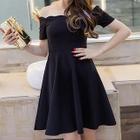 Short-Sleeve Off-Shoulder A-Line Dress 1596