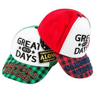 kids-gingham-letter-baseball-cap