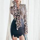 Set: Leopard-Print Blouse + Skirt 1596