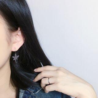 Dragonfly Plain Stainless Steel Earrings 1056898974