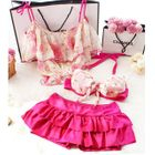 Set: Floral Bikini + Top 1596