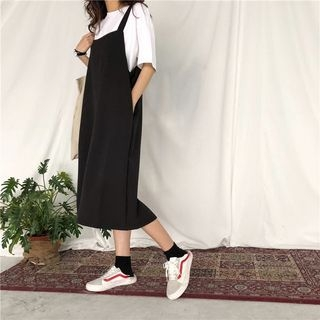 Midi Pinafore Dress 1066345411