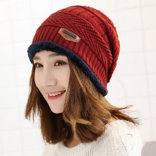Image of Circle Scarf with Knit Beanie