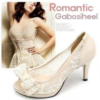 "Buy Miz shoes Open-Toe ""Bow"" Lace Pumps 1022725060"