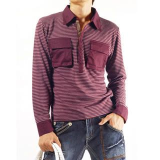 Buy Purplow Envelope Pocket Stripe T-Shirt 1004594763