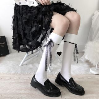 Image of Bow Accent Knee-High Socks / Set