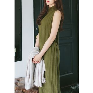 Sleeveless Ribbed Knit Dress 1057031684
