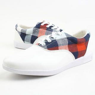 Picture of BSQT Checkered Print Sneakers 1023071174 (Sneakers, BSQT Shoes, Taiwan Shoes, Womens Shoes, Womens Sneakers)