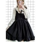 Frilled Hem Pinafore Dress 1596