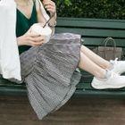 Check Pleated Midi Skirt 1596