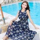 Sleeveless Floral Maxi Sun Dress 1596