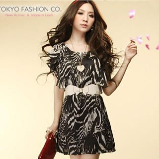 Buy Tokyo Fashion Flutter-Sleeve Printed Dress 1022882772