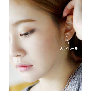 Line Silver Earrings