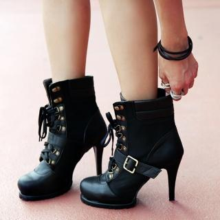 Buy REDOPIN Lace-Up Ankle Boots 1023011283