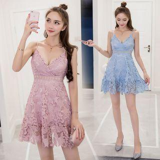 Lace Spaghetti Strap Dress 1060802238