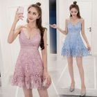 Lace Spaghetti Strap Dress 1596