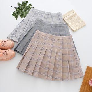 Pleated Check Mini Skirt 1060041394