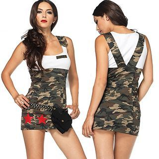 Camouflage Army Party Costume 1051566431
