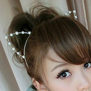 Beaded Cat-Ears Hairband
