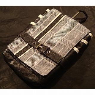 Buy Wizz Spirit Belted Plaid Pouch with Strap Light Gray – One Size 1021638564