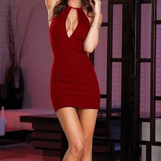 Sleeveless Zip Bodycon Dress