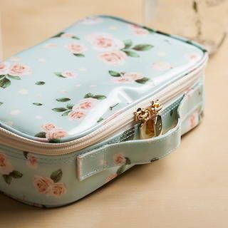 Floral Print Make-Up Pouch